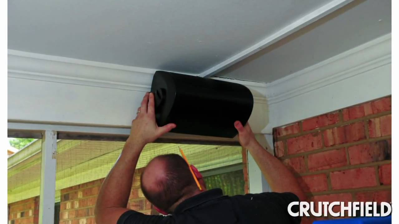 How To Install Outdoor Speakers Crutchfield Video Youtube Wiring Diagrams Tv