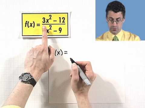 Graphing Rational Functions with Vertical and Horizontal Asymptotes