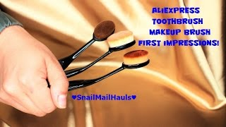 Aliexpress Haul #1! | Replica Artist Makeup Brush | SnailMailHauls