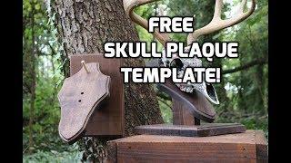 DIY Tilted Desk/Wall Skull Plaque! (Free Plaque Template Download!)