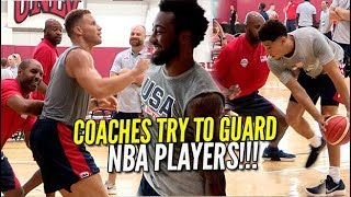 COACHES TRY TO GUARD NBA PLAYERS!!! Devin Booker, Blake Griffin & More