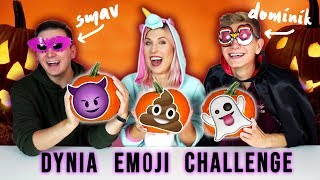 DYNIA EMOJI CHALLENGE  Smav, Dominik i Agnieszka Grzelak Vlog na Halloween