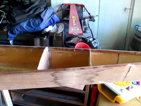 home made plywood kayak fishing canoe