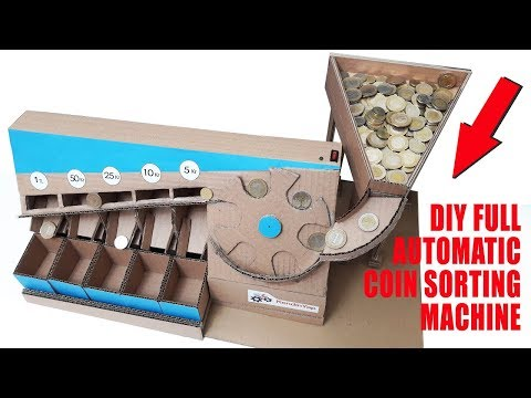 DIY Full Automatic Coin Sorting Machine V3. How To Make Coin Sorting Machine.