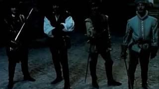 Сериал Графиня де Монсоро (1997) фехтование на шпагах - один против 4-х