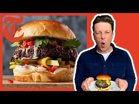 Jamie Oliver's Ultimate Veggie Burgers | NYT Cooking