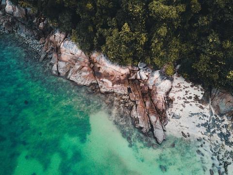 Flying DJI Mavic Pro over island Resort Malaysia by [4K]