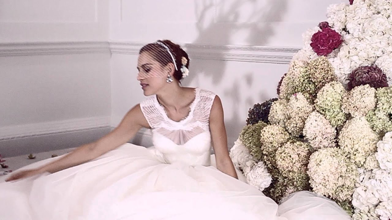 Introducing truly zac posen david 39 s bridal youtube for Truly zac posen wedding dress with sequin detail