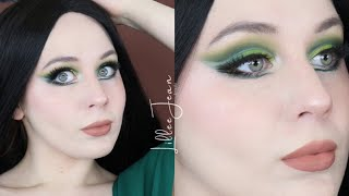 PowerPuff Buttercup Green Cut Crease Makeup Tutorial 2020 | Lillee Jean