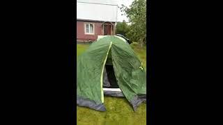 Обзор туристической палатки Outventure с тамбуром (4-х местная)