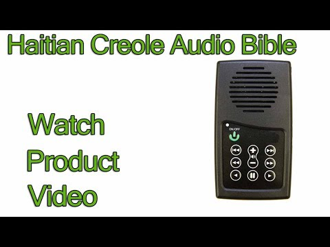Haitian Creole Bible New Testament Audio Bible player