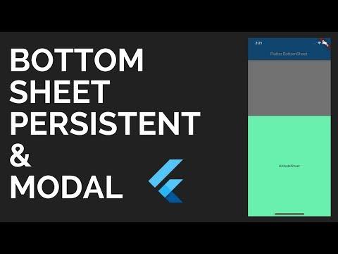 Flutter: BottomSheet Tutorial   Persistent & Modal Sheets   Material Design