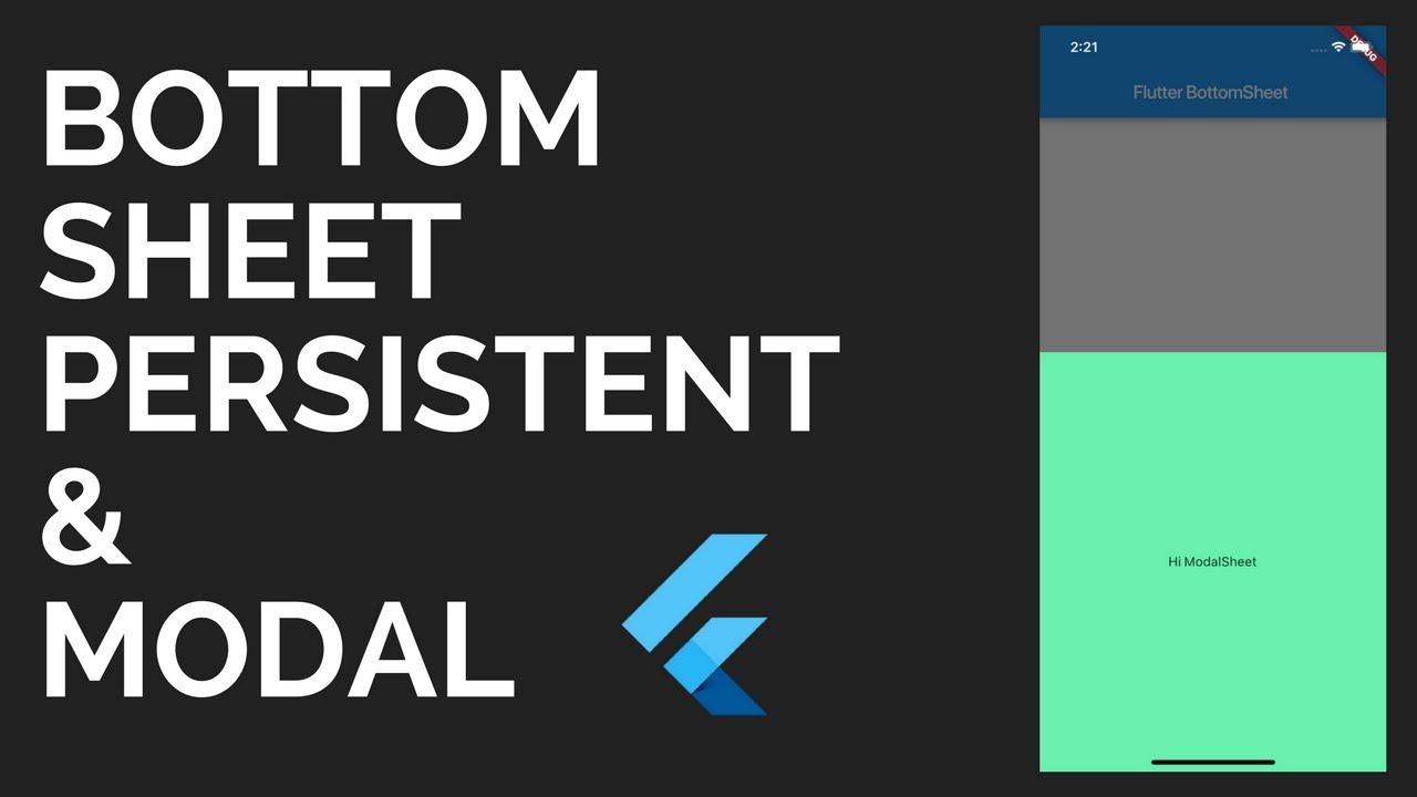 Flutter: BottomSheet Tutorial | Persistent & Modal Sheets | Material Design
