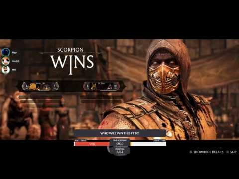 Black (Scorpion - Hellfire) VS EC_Lion (Kitana, Scorpion, Mileena) FT1-