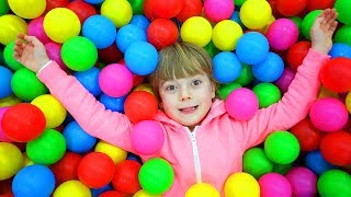 Ulya play in  Fun Indoor Playground with Slide and Balls