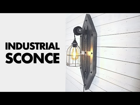 DIY Industrial Wall Sconce Wall Lamp - ZH Fabrications Inspired
