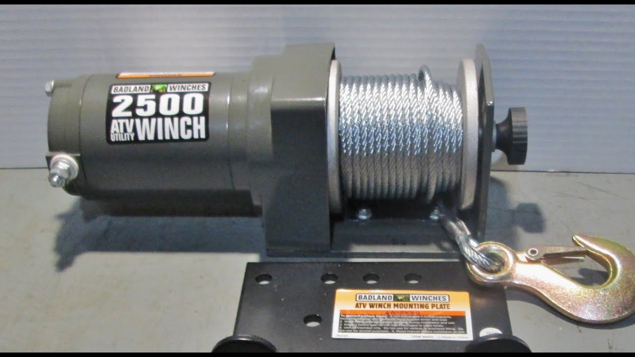 badland  atv winch youtube