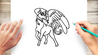 How to Draw a Pegasus Step by Step for Kids