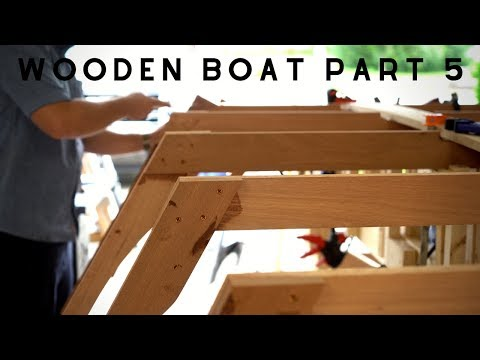 Wooden Boat Build // Part 5: Keelson and Frame Sides