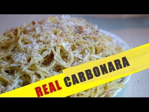 Katy  Acho Cooking  ნამდვილი პასტა კარბონარა  Real Pasta Carbonara