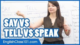 SAY, TELL, SPEAK - What is the difference? Confusing English Verbs