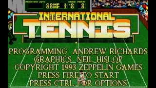 International Tennis PC DOS Game (intro and gameplay)