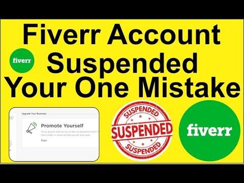 Fiverr Account Suspended Your 1 Mistake In Hindi Urdu Tutorial (2019)