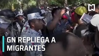 Guardia Nacional repliega Caravana Migrante 2020