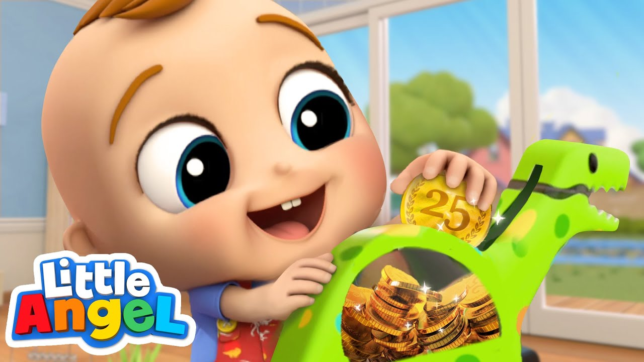 Piggy Bank Song | Little Angel Kids Songs & Nursery Rhymes