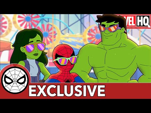 Spidey & She-Hulk Smash Sandcastles! | Marvel Super Hero Adventures - From Hulk to Eternity | SHORT