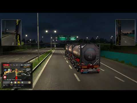 Euro Truck Simulator 2 (D-Tec Combitrailer + dolly to ferry terminal)