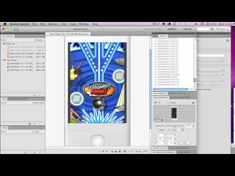 Accelerometer Code with Actionscript 3 and Flash CS5 - Part 1