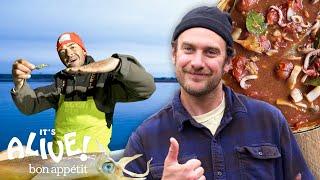 Brad Goes Squid Fishing   It's Alive   Bon Appétit