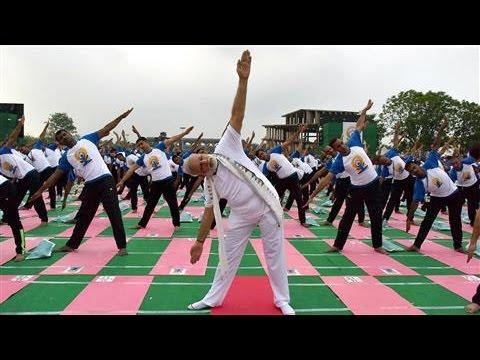 Yoga Enthusiasts Celebrate International Yoga Day
