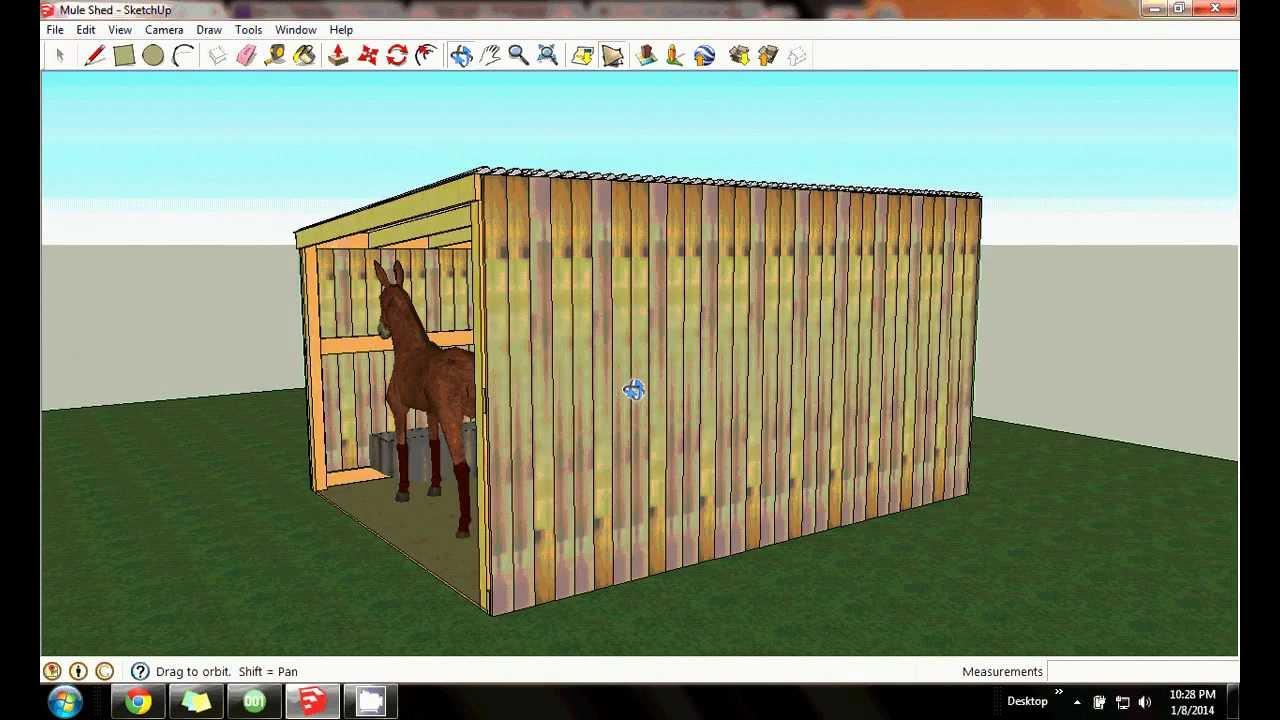 Mule shed 12x16 design by lamar