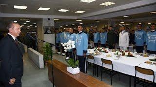 Cumhurbaşkanı Erdoğan,  Muhafız Alayı Yemekhanesinde Askerlerle Birlikte İftar Yaptı 08.07.2015