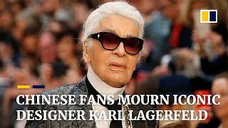 Chinese fans mourn iconic designer Karl Lagerfeld