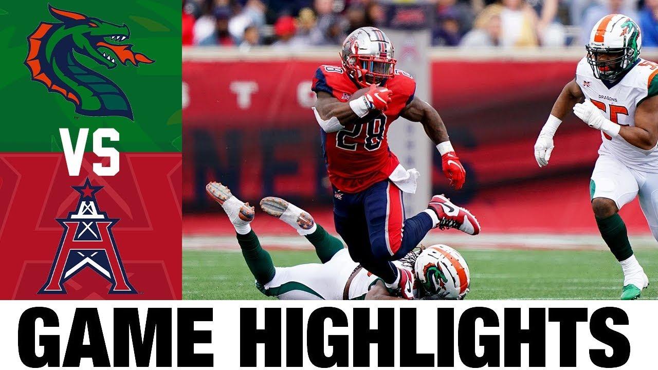 Seattle Dragons vs Houston Roughnecks | Week 5 | XFL Football Highlights