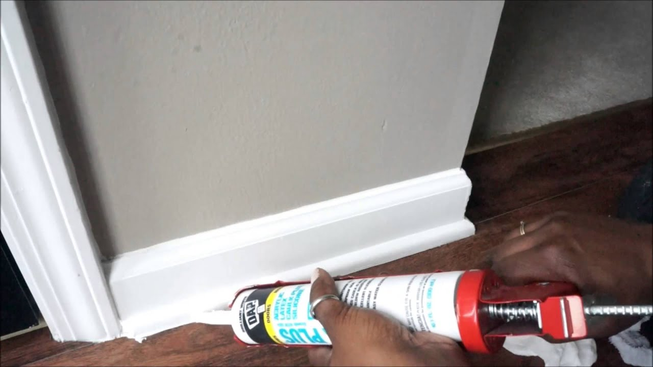 How To Prep Shoe Moulding For Paint Youtube