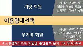 대명리조트소노회원권노블리안분양가격&신규혜택정보