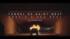 Yvroud met le feu au Tunnel de Saint-Beat