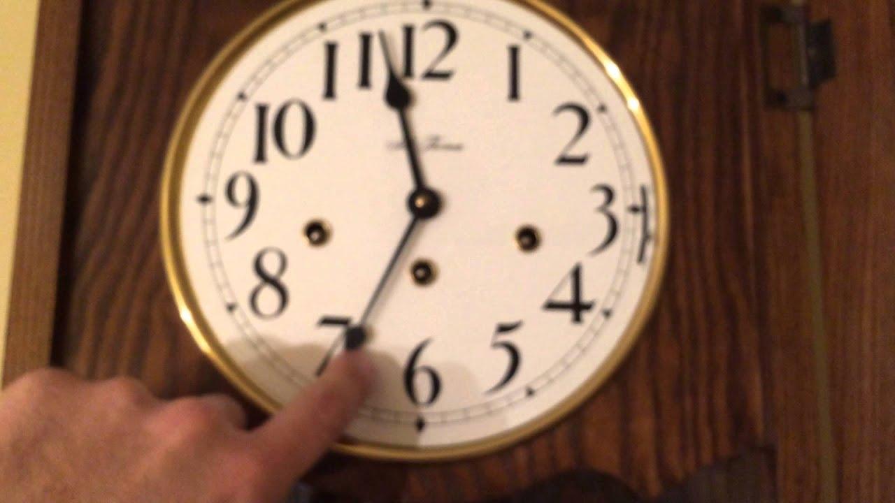 Large Seth Thomas Triple-Chime Regulator Wall Clock wit... : Doovi