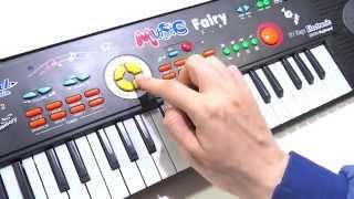 Organeta Piano De Juguete 37 Teclas Ritmos Tonos 22 Canciones Electronic keyboard toy 22 songs