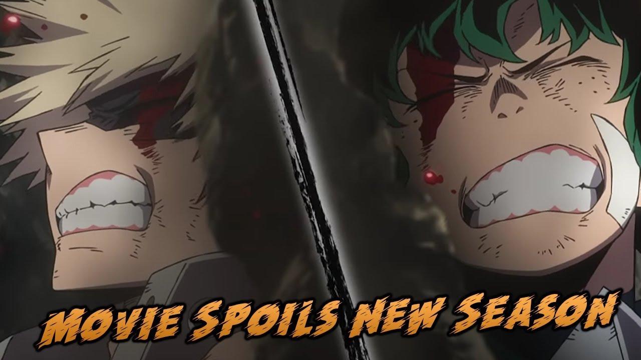 The New My Hero Academia Movie Trailer Spoilers Season 4 Season