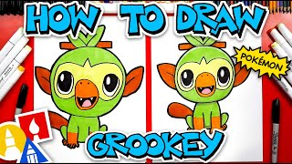 How To Draw Grookey Pokemon From Sword And Shield