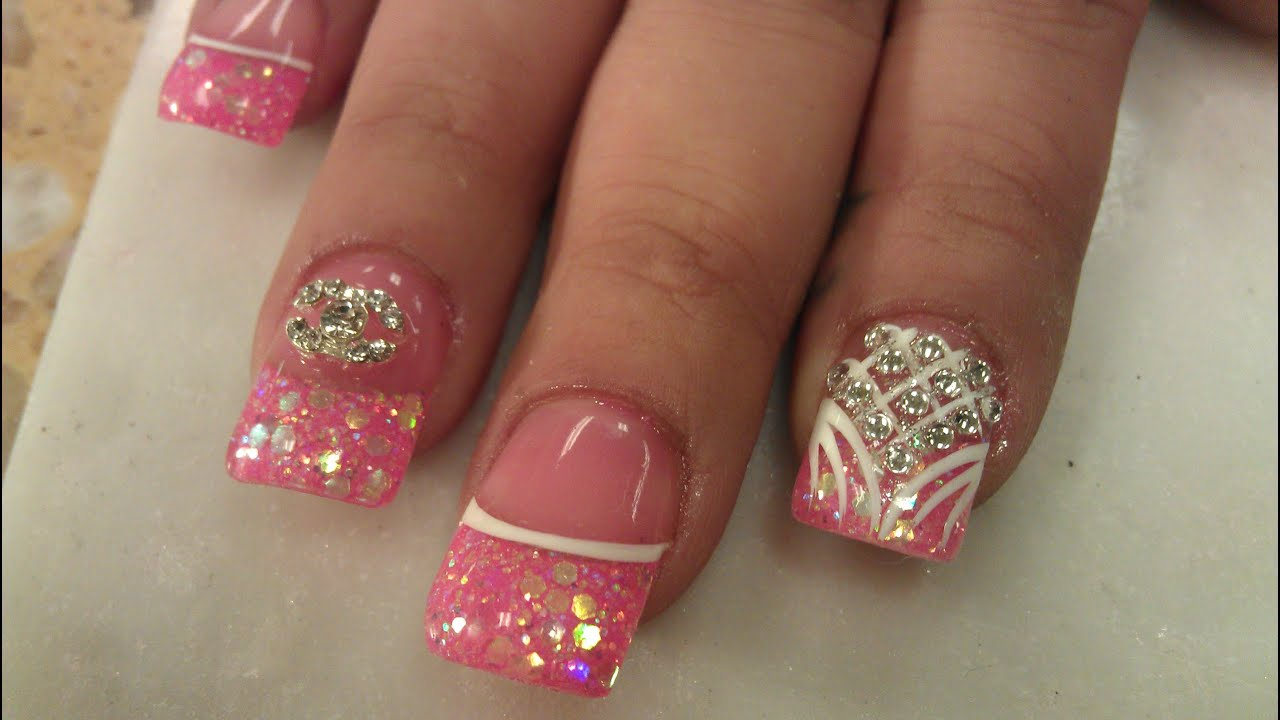3D BLUSH PINK NAIL DESIGNS PART 2 Of 3