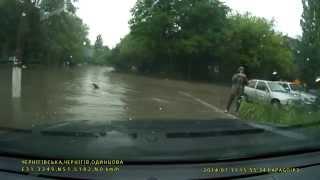 Ливень в Чернигове(Не ожидал, что будет столько воды. Ни к черту местная дренажная система. Однако прорвался )), 2014-07-11T19:11:36.000Z)
