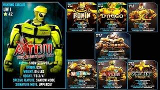 Real Steel WRB Atom VS ALL GOLD ROBOTS Series of fights NEW ROBOT (Живая Сталь)