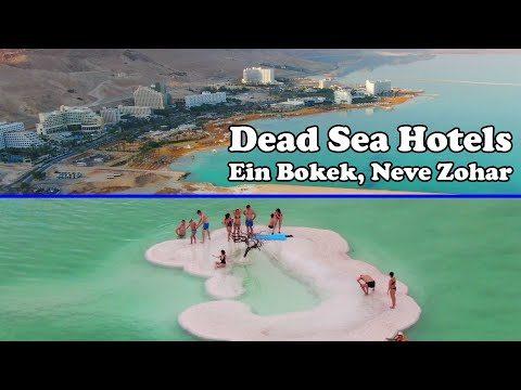Dead Sea, Israel - All Hotels In Ein Bokek And Neve Zohar From Drone