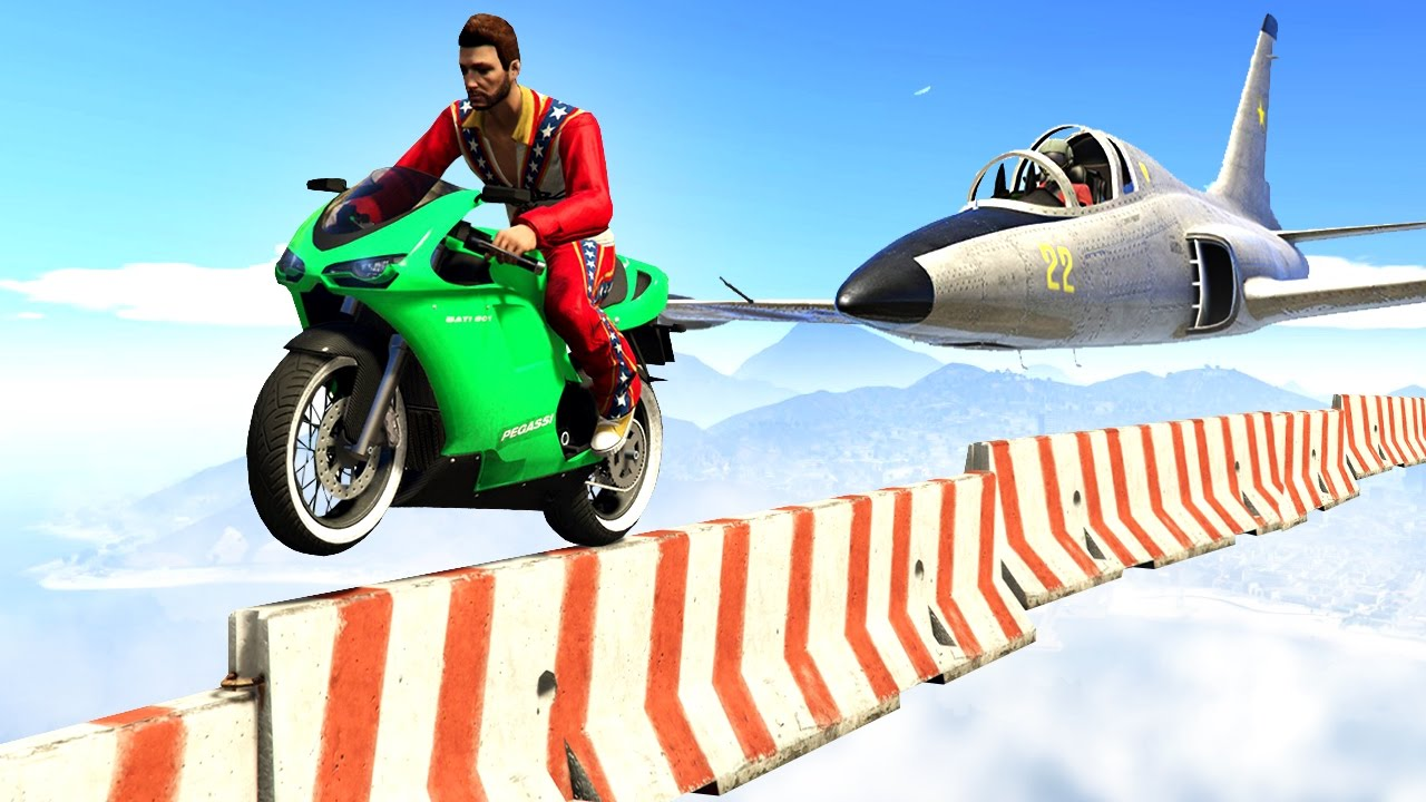 Impossible Bikers Vs Planes Gta 5 Funny Moments Youtube